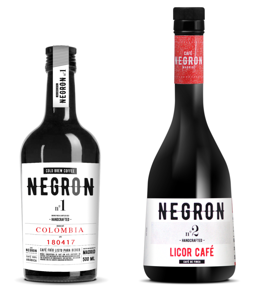 cold brew negron licor cafe